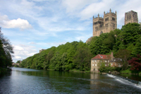 durham cathedral from river